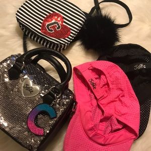 Girls justice purse and hat lot
